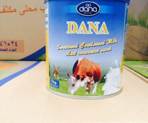 DANA Sweet Condensed Milk Shipped to Africa